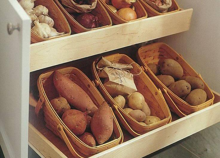 Як зберігати овочі в квартирі