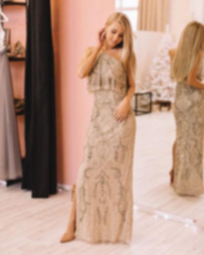 Блестящие свадебные и вечерние платья