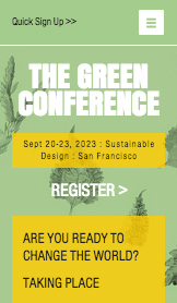 Events website templates – Eco Design Conference