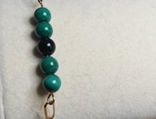 Bracelet Malachite et Tourmaline
