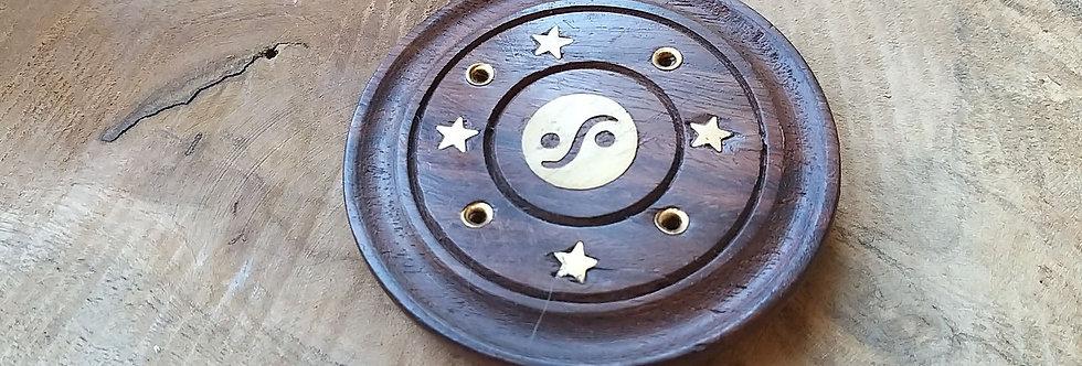 Porte encens ying yang