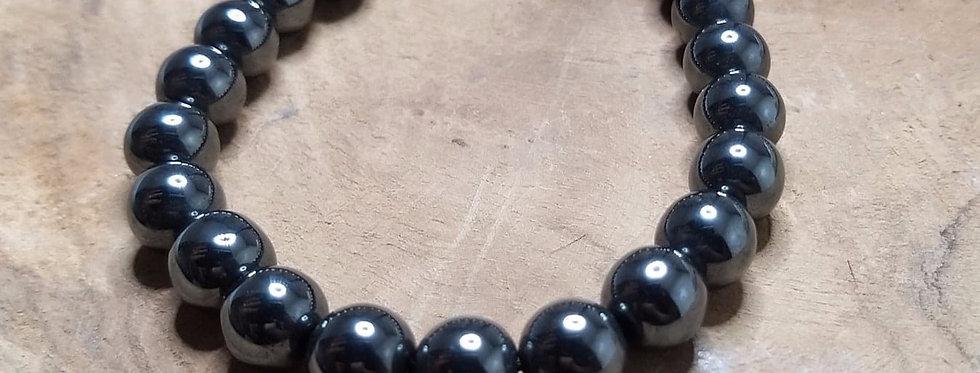 Bracelet hématite 8mm- 6mm- 4mm