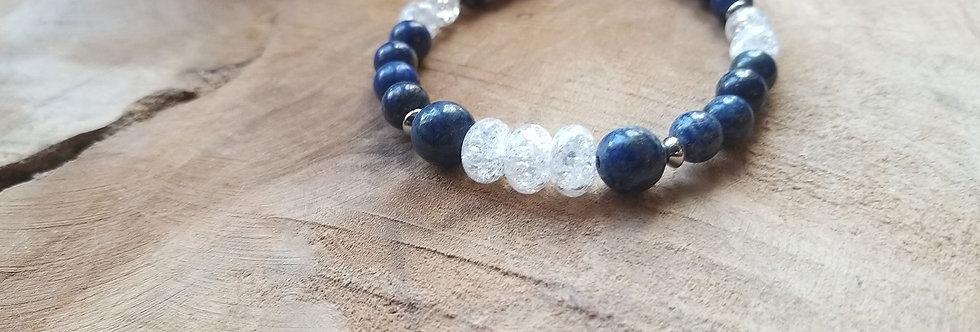 Bracelet Lapis-Lazuli et cristal de roche