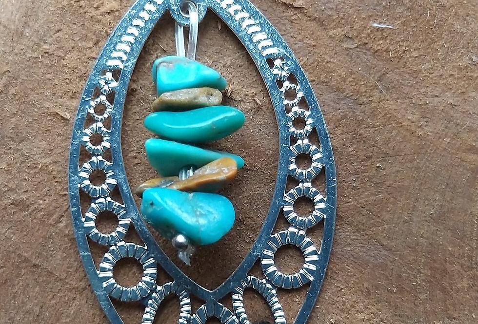 Pendentif avec turquoise