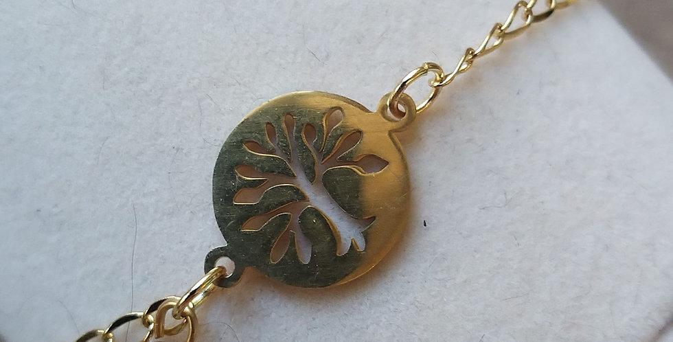 Bracelet arbre de vie et malachite