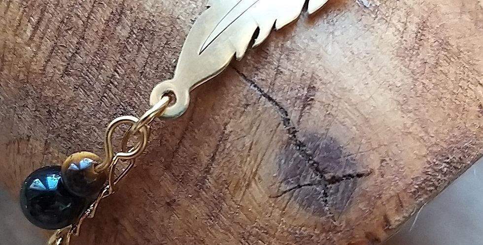 Bracelet oeil de tigre et tourmaline