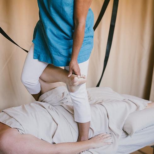 Range Of Motion Barefoot Massage