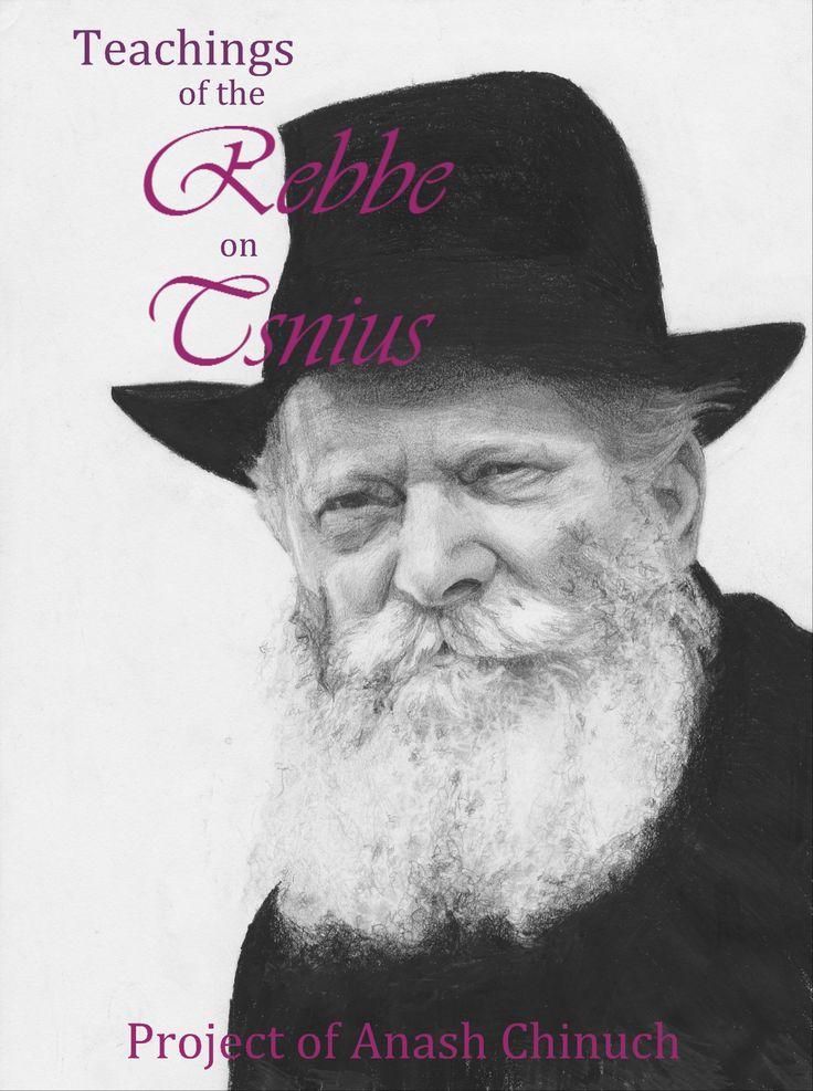 Teachings of the Rebbe on Tsnius