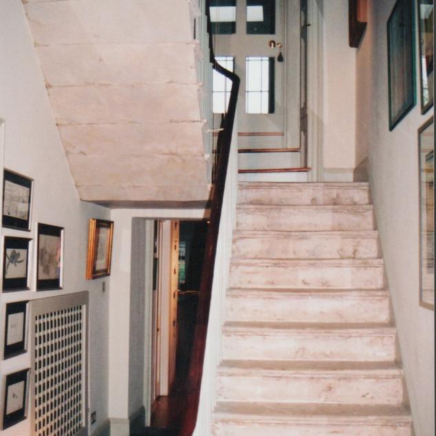Bloomsbury Portland stone stairs