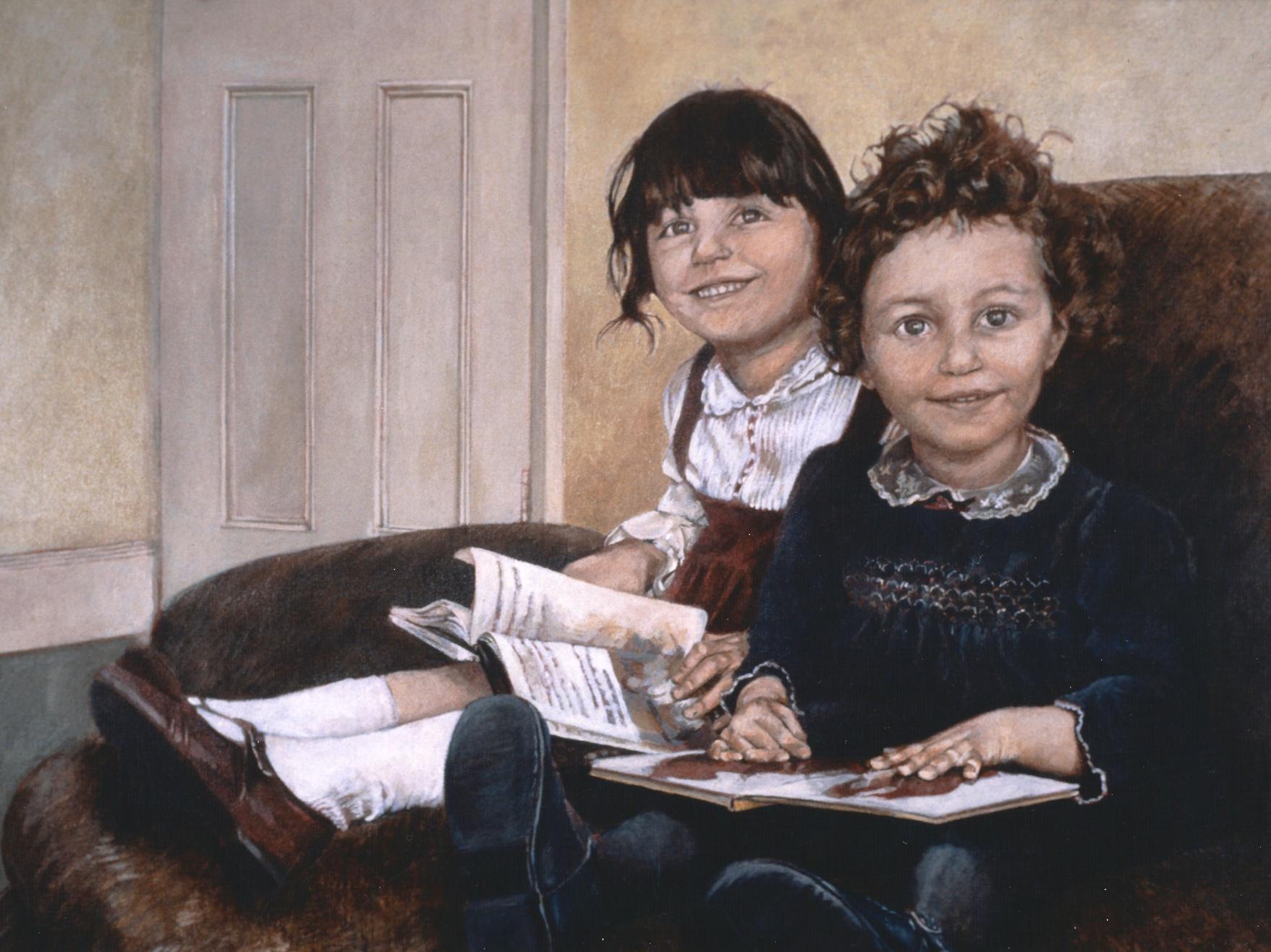 Portrait of two sistersl