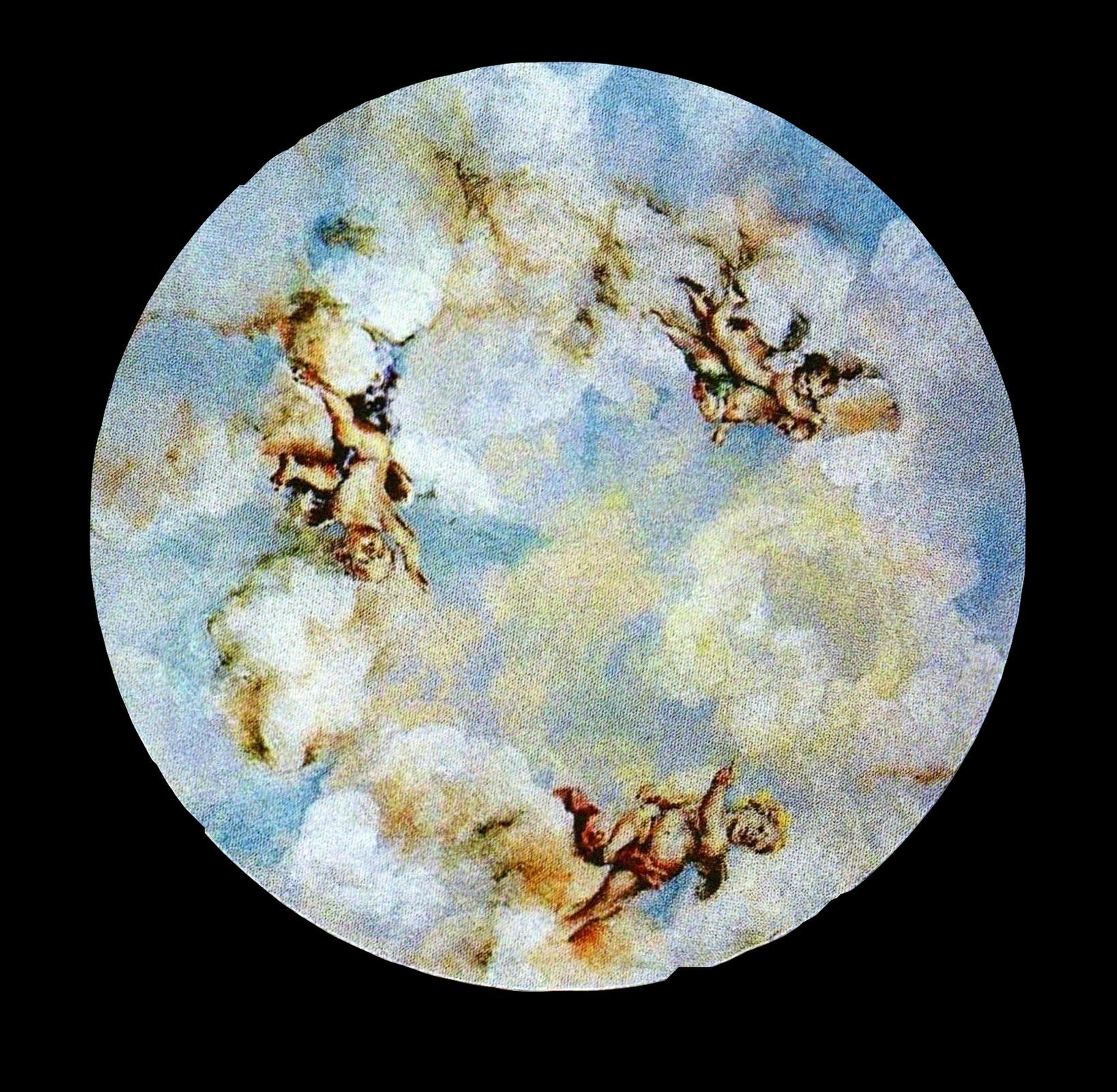 Sky mural with cherubs