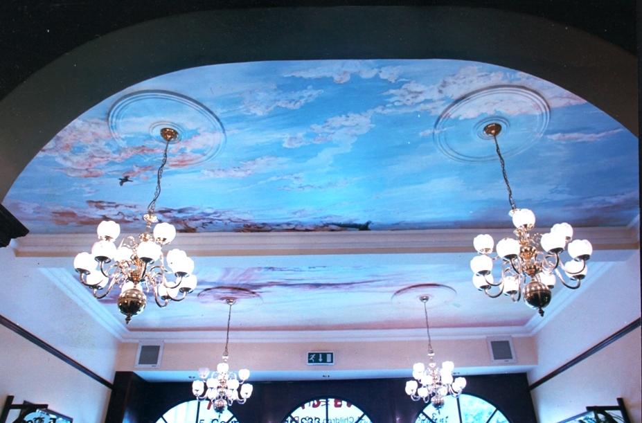 Mural restaurant ceiling