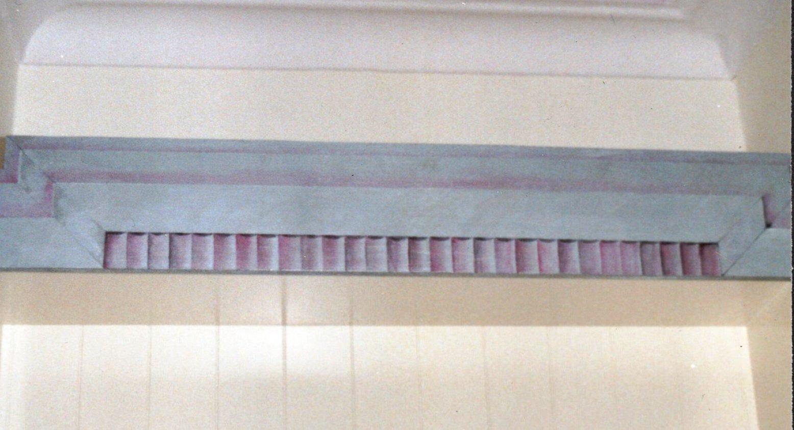 Trompe L'Oeil painted fluting