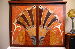 Woodgraining, faux marquetry