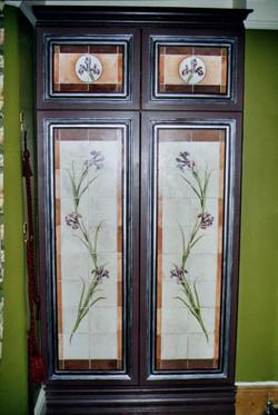 Trompe L'Oeil painted Victorian tile