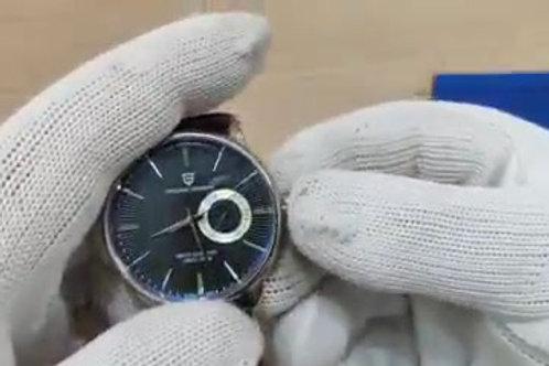 Relógio Pulseira de Couro PAGANI DESIGN À Prova D'Água 10Bar Quartzo Mod. 1654