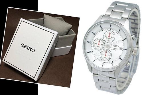Relógio Masculino Seiko Pulseira de Aço Cronógrafo Sks535p1