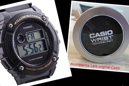 Relógio Casio Illuminator 7 Alarmes W-216h-1bv