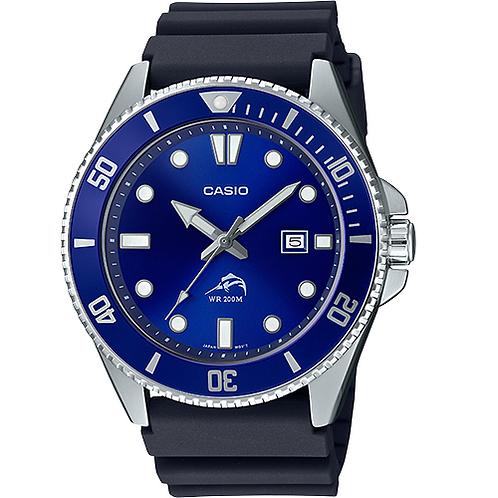 Relógio Pulseira De Resina Sea Duro Sports  Casio Mdv106b-2av 200m