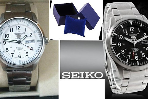 Relógio Automático Aço Seiko 5 Sports 23 Joias 100m Snzg13j1 Japão