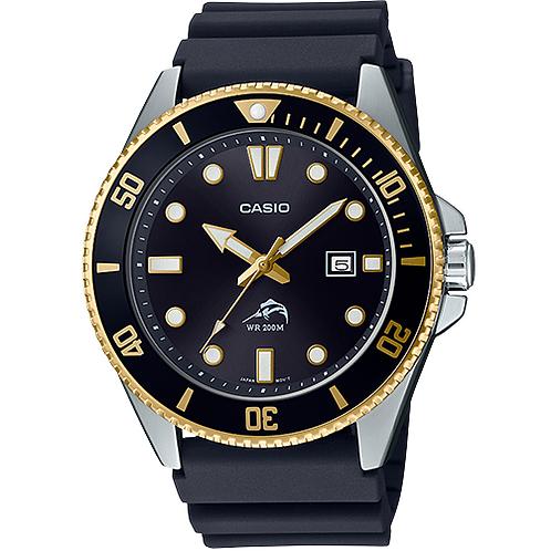 Relógio Pulseira De Resina Sea Duro Sports  Casio Mdv106G-1AV Marlin 200m