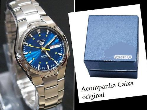 Relógio de Aço Inoxidável Automático Seiko Snk615 K1 Aço Inox Caixa Original