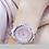 Thumbnail: Relógio De Luxo Banhado Ouro / Prata Strass Bee Sister Zdj02