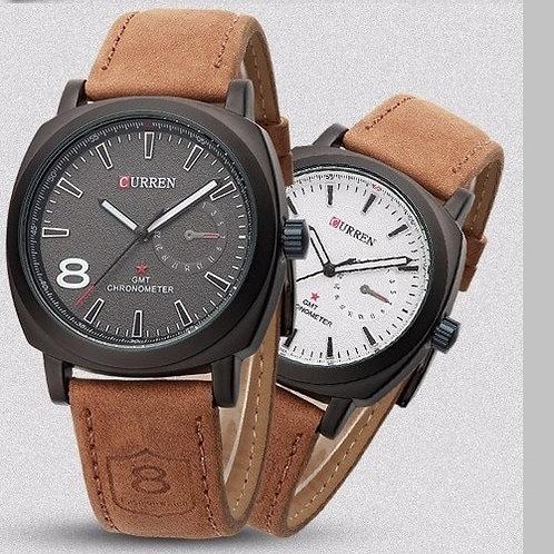 Relógio De Pulseira  De Couro Cronômetro 8139 1ª Linha