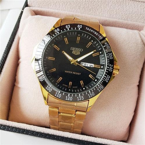 Relógio Pulseira De Aço Dourado Automático Tipo SEIKO SNKE06 GOLD-19