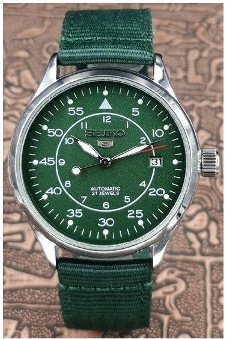Relógio SEIKO Pulseira De Nylon Automático Funcional Movimento . 4r35b