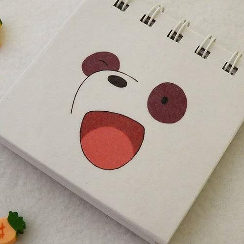mini libreta panda (we are bears)