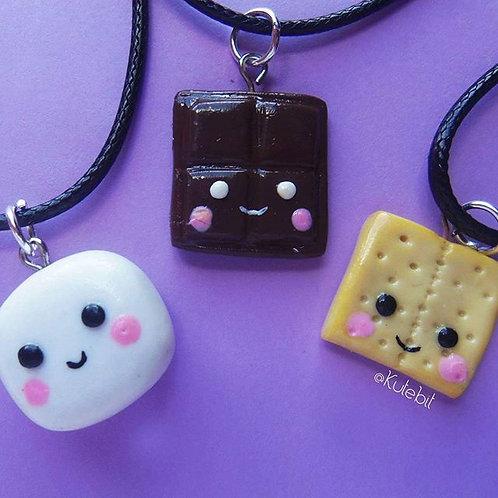 Trio marshmallow (collares trio)