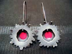 Sea Anemone Earrings (Blackened II)