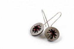 Sea Anemone Earrings (Blackened I)