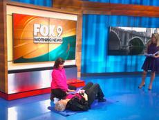 Laurie and Nancy on Fox 9