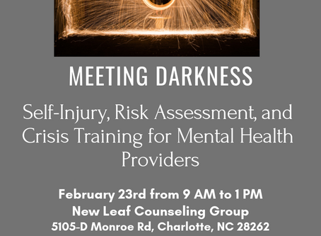 Meeting Darkness: Working with High Risk Clients for Mental Heath Professionals