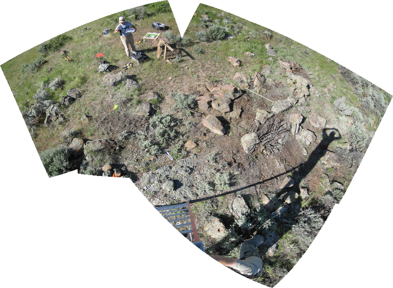 Overhead panorama of stone feature complex