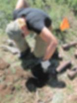 UXO Archaeologist Intrusive on Arch Site