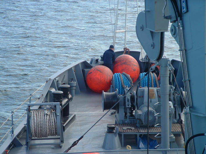 Marynarka Wojenna na zwrocie przez sztag