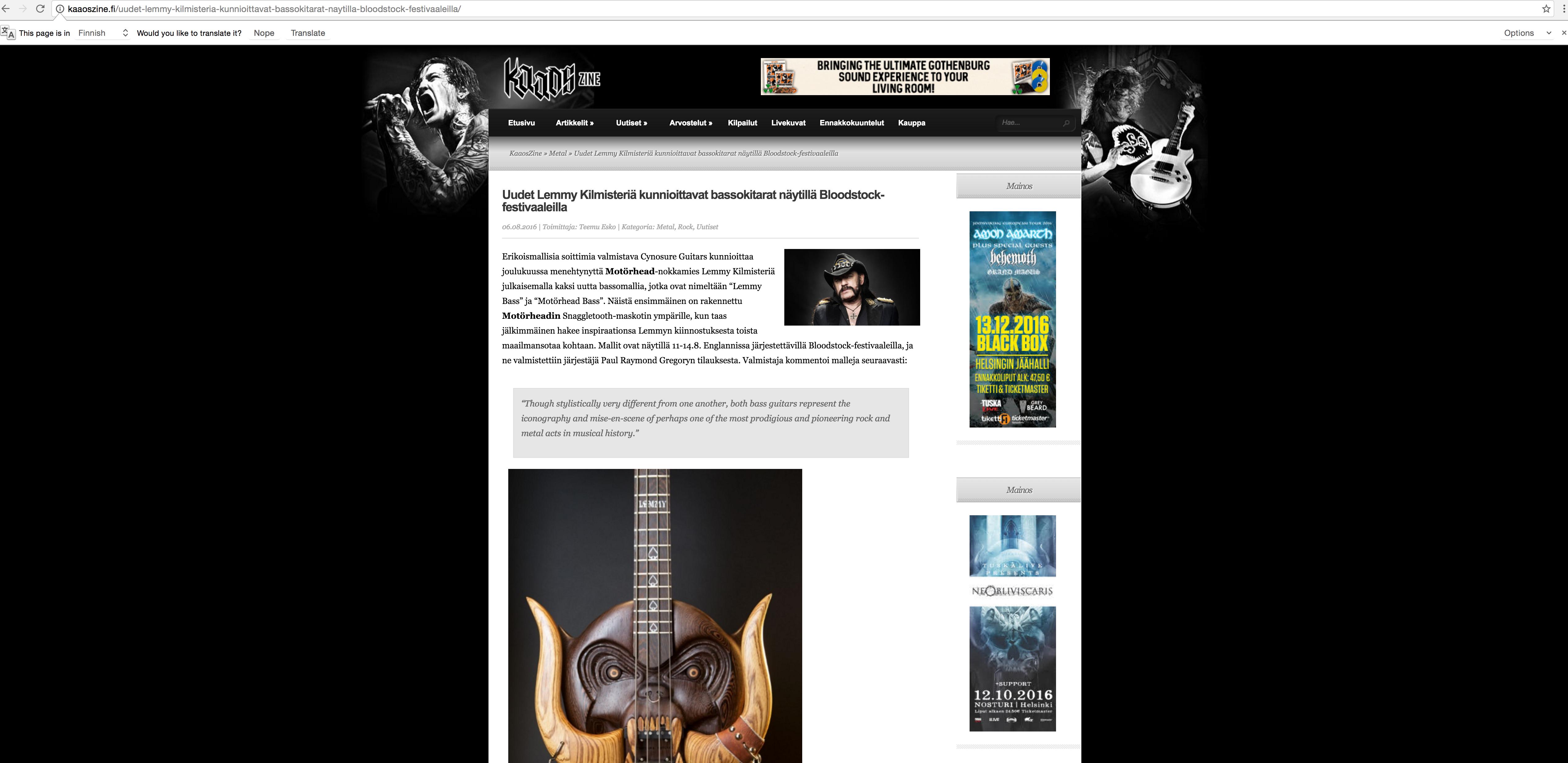 PRESS | Cynosure Guitars