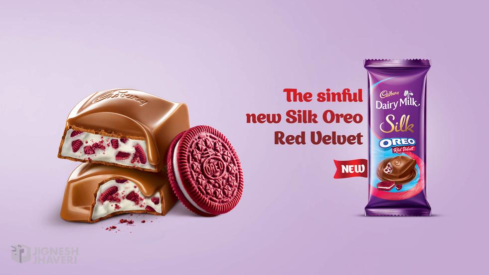 Cadbury India Silk Oreo Red Velvet Key Visual photography by Jignesh Jhaveri