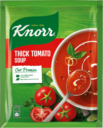 Knorr Thick Tomato Soup Packaging