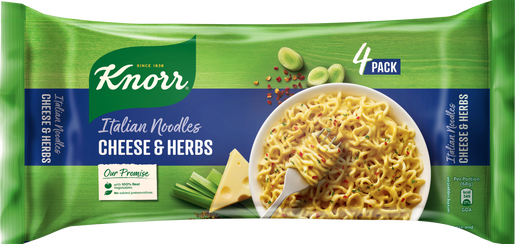Knorr Italian Noodles Packaging Cheese and Herbs