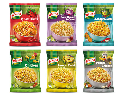 Knorr Noodles Packaging Photography