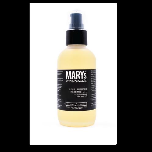 Mary's Hemp Infused Massage Oil