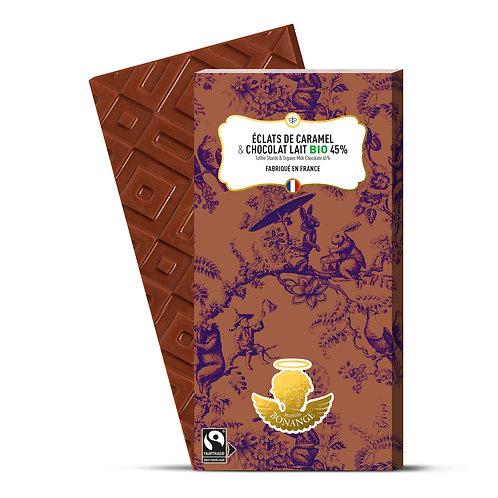 Lait 45% Bio & Éclats de caramel 80g