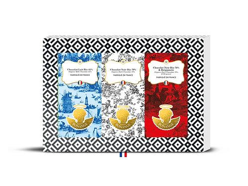 Coffret 3 petites tablettes tricolore