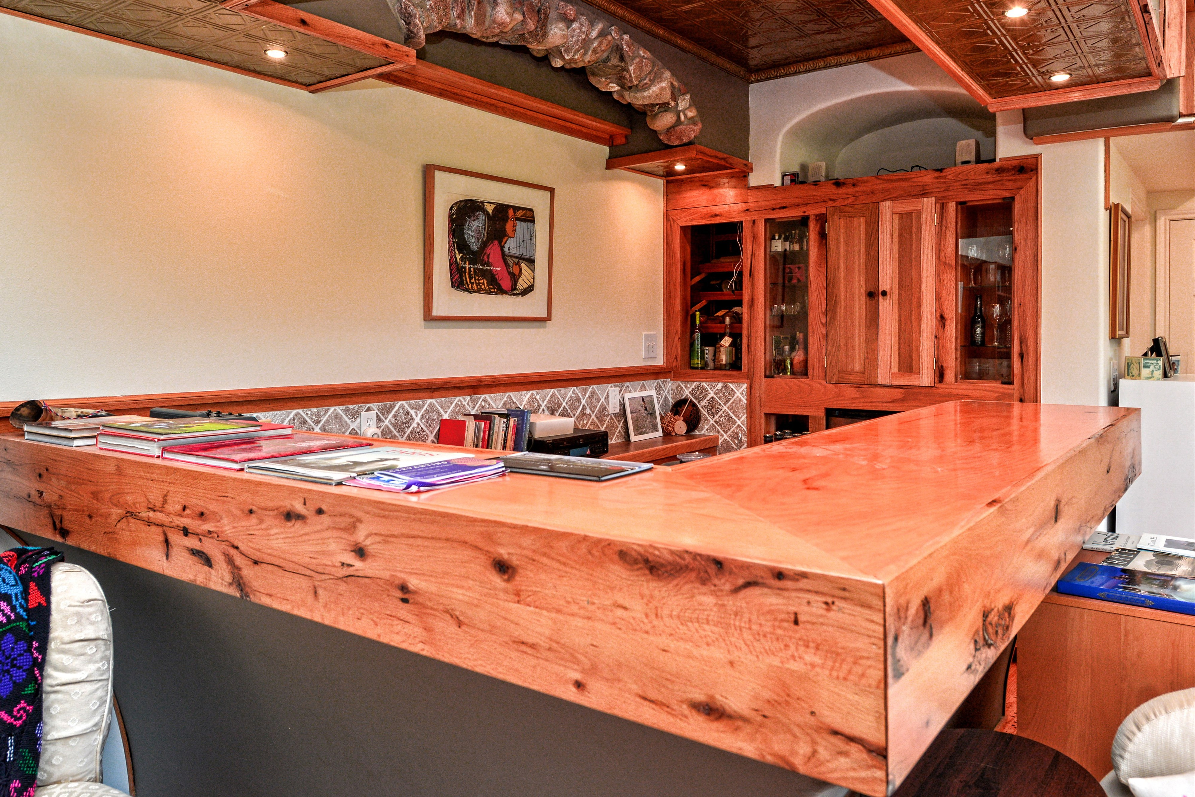 custom mesquite wood bar