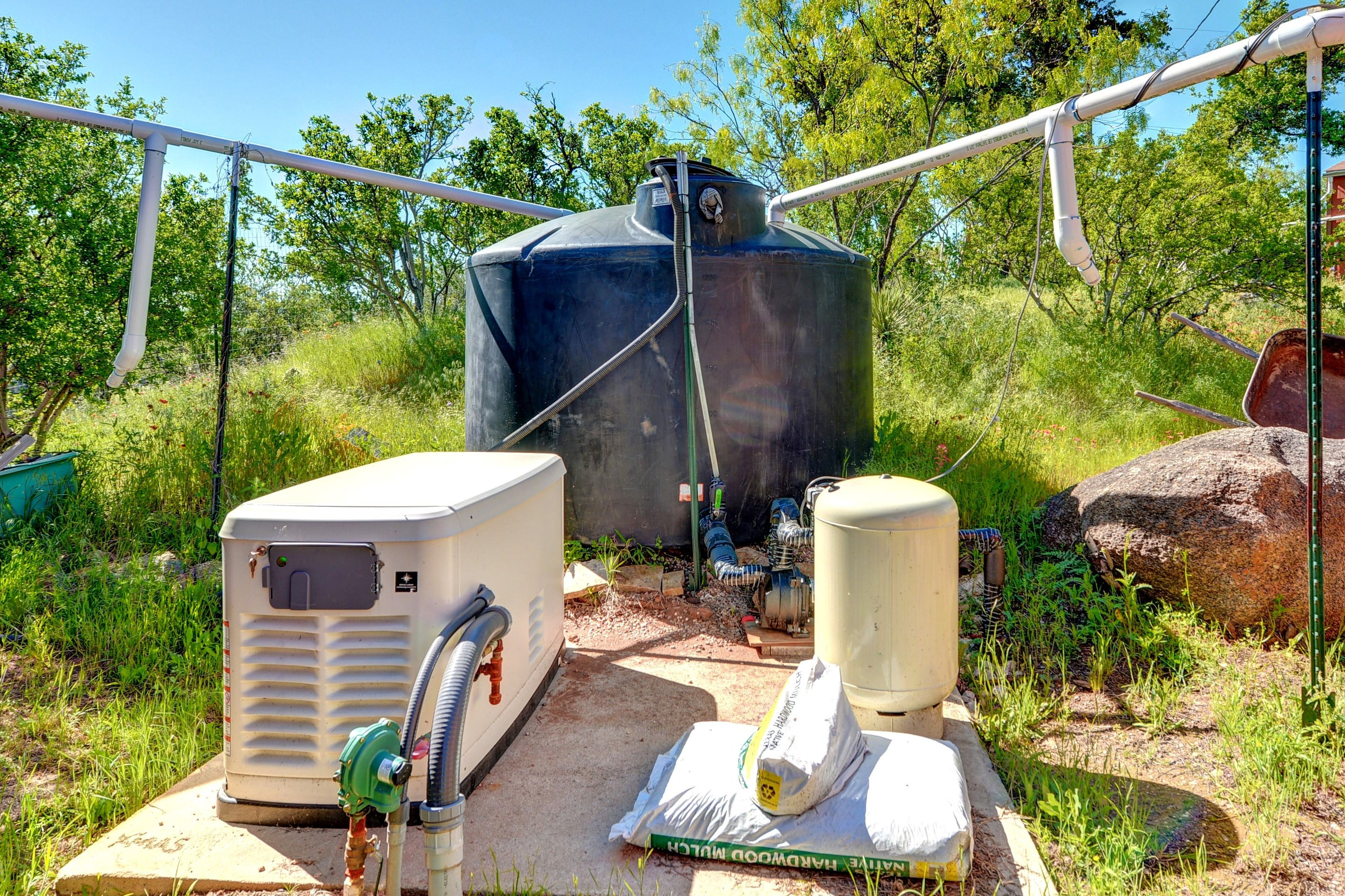 generator and rain collection system