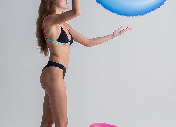 Top Marie Preto/Tangerine
